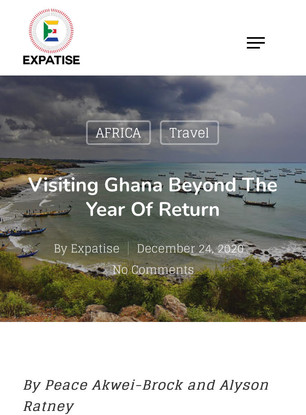 Ghana Beyond the return! We've been featured by Expatise Blog