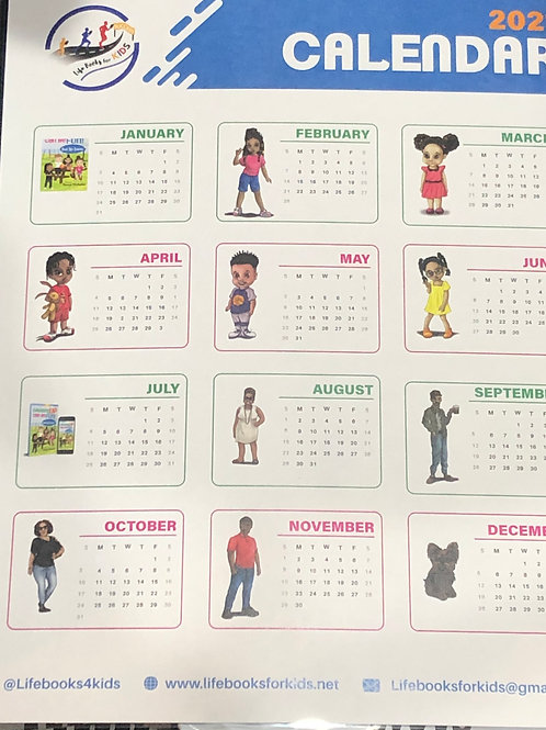 Year At A Glance Calendar of Characters From All Life Books Series