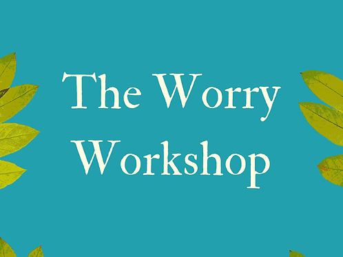 The Worry Workshop (1 x ticket) Sunday 15th October 2017