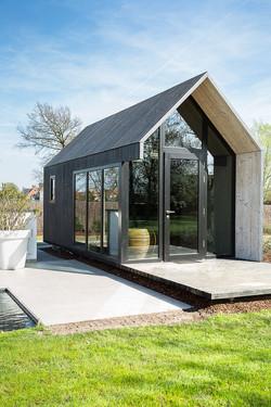 fotografie tuin en tiny house