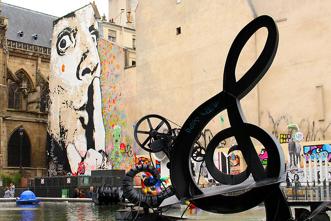 Shh treble clef Paris by stephen-cleary.