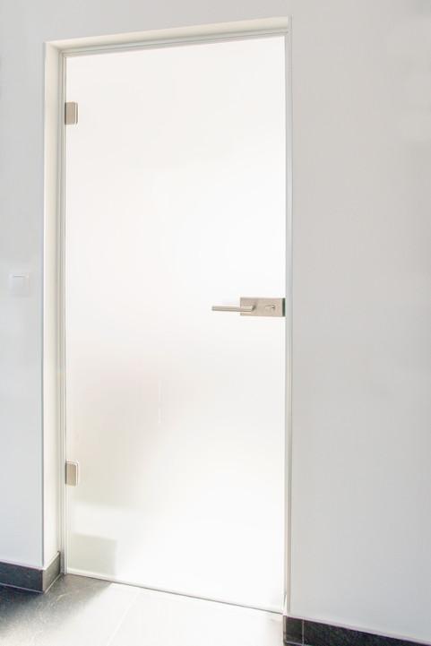 dveře v hliníkové zárubni