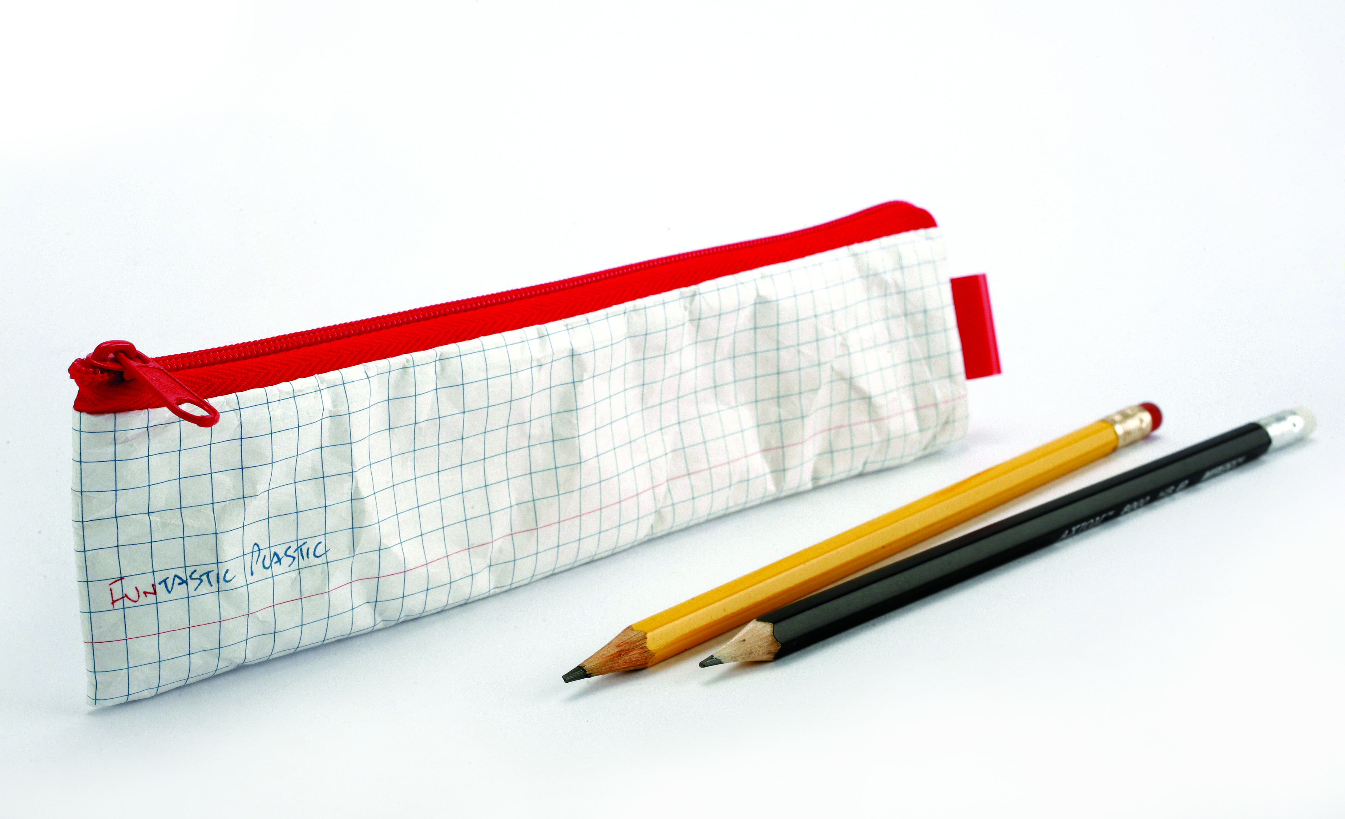 Pencil Case checkered notebook