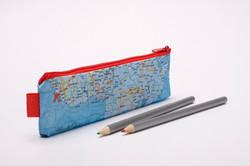 Pencil Case World map
