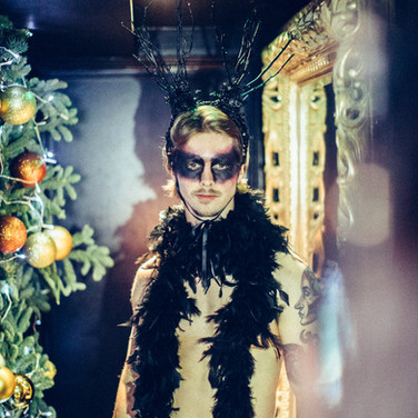 M-is private Xmas party costumes and headdress for hospitality