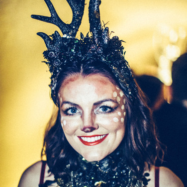M-is private office xmas party provided costume snd headdress, styling for  hospitality