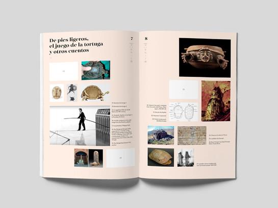 Atlas / Álbum (Páginas interiores). Maqueta para pieza gráfica tipo álbum, con colección de láminas adhesivas cuyas imágenes sirven de referencia para el proyecto.