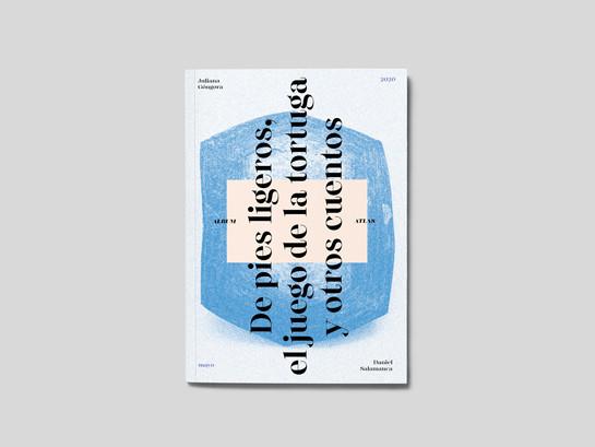 Atlas / Álbum (Portada). Maqueta para pieza gráfica tipo álbum, con colección de láminas adhesivas cuyas imágenes sirven de referencia para el proyecto. Formato cerrado: 20 x 30 cm