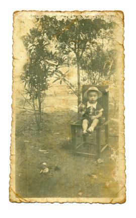 Papá en una silla