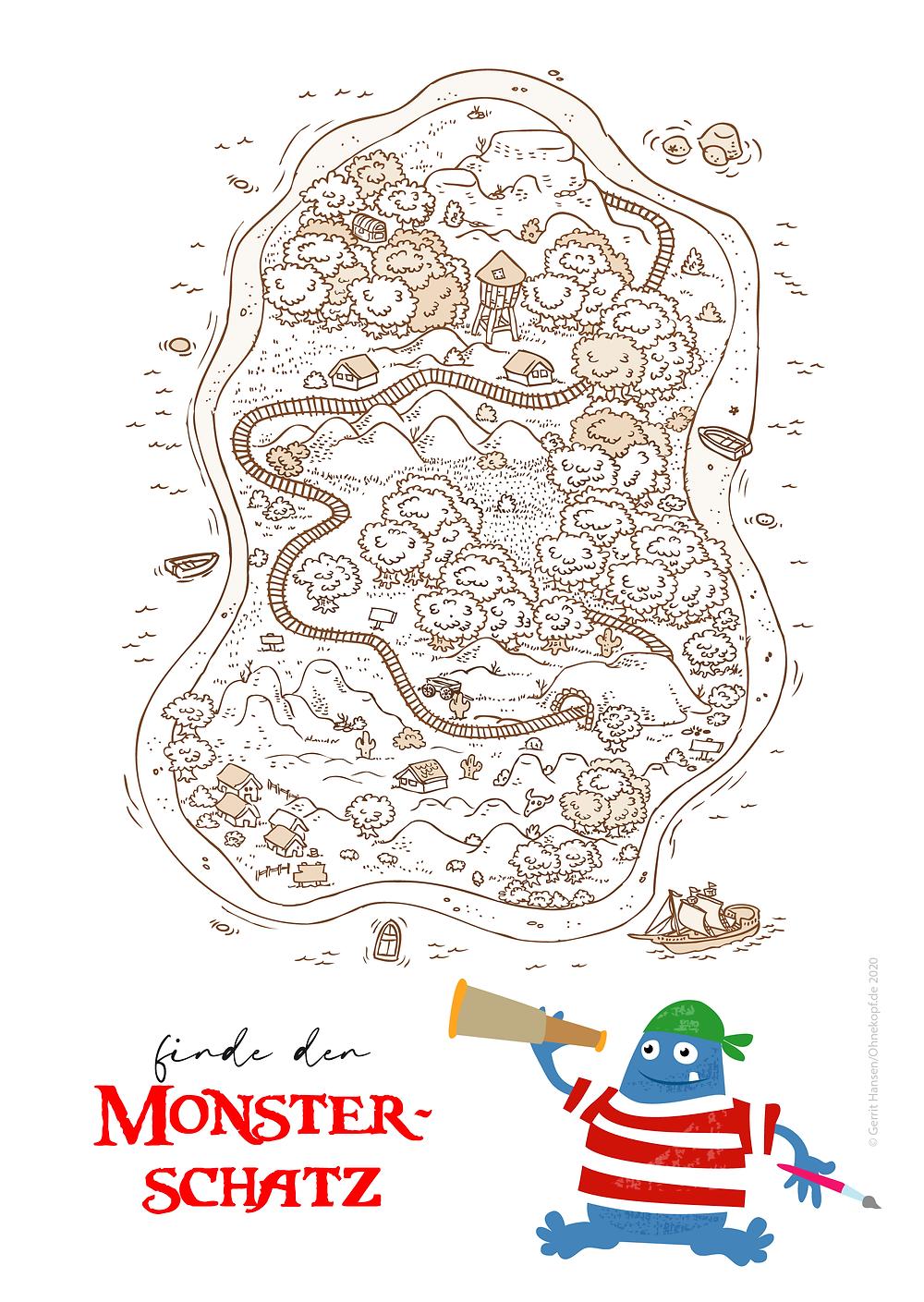 Finde den Monsterschatz