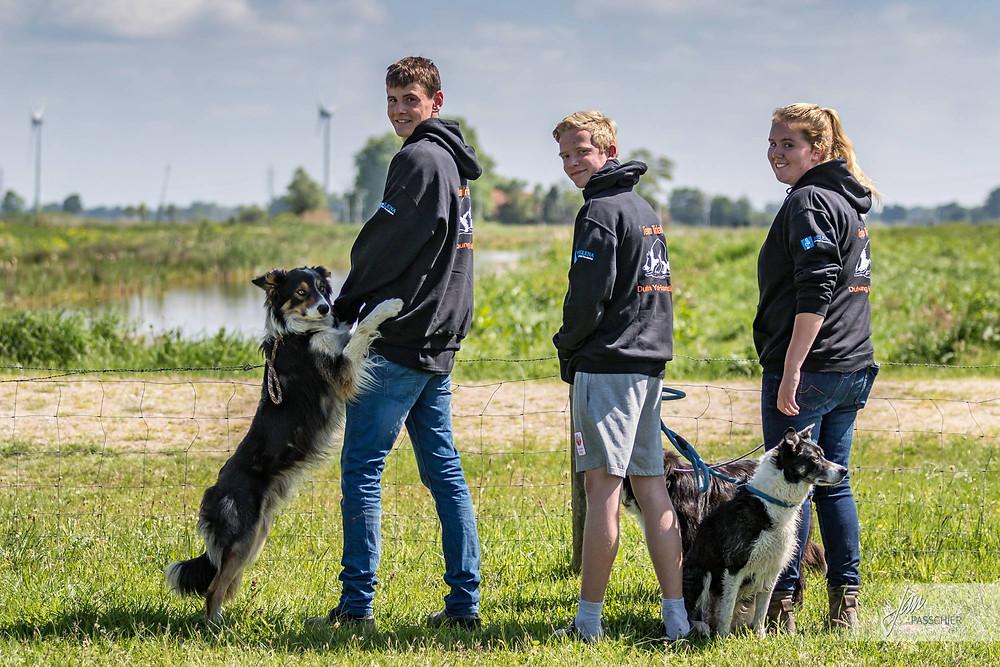 Dutch Young Handlers (van links naar rechts Tom Mennen, Riemer Schripsema & Didi Woning)