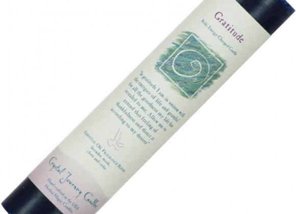 Reiki Herbal Pillar Candle - Gratitude