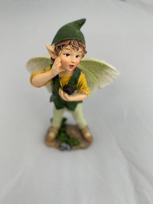 "Green ""Whistling""Fairy Figurine"