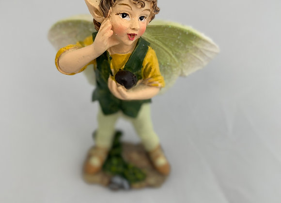 "Green ""Whistling""Fairy Figurine"