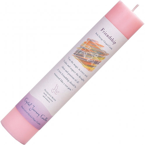 Reiki Herbal Pillar Candle - Friendship