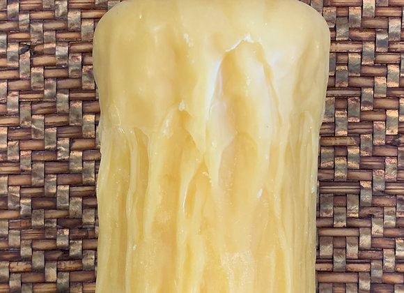 """Beeswax Candle - Rustic Finish 3.4 x 5"""""""