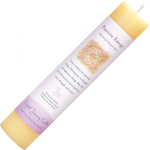 Reiki Herbal Pillar Candle - Positive Energy