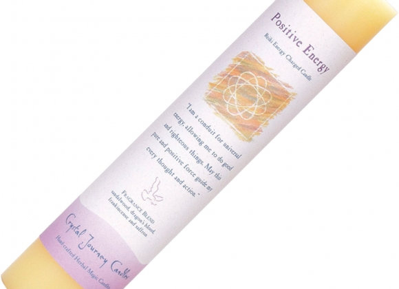 Reiki Herbal Pillar Candle - Positive Energy