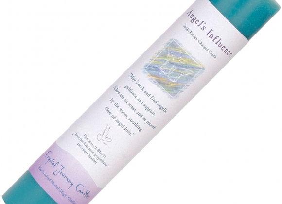 Reiki Herbal Pillar Candle - Angel's Influence