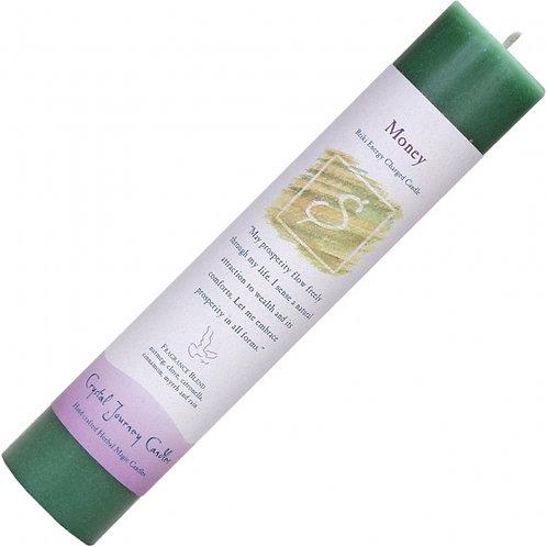 Reiki Herbal Pillar Candle - Money