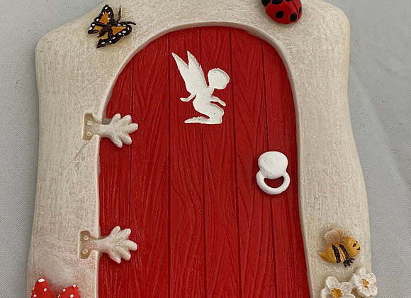Lady Bug Fairy Door
