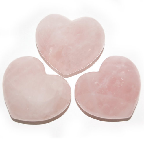 Puffy Heart - Quartz, Rose
