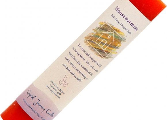 Reiki Herbal Pillar Candle - Housewarming