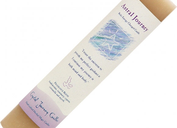 Reiki Herbal Pillar Candle - Astral Journey