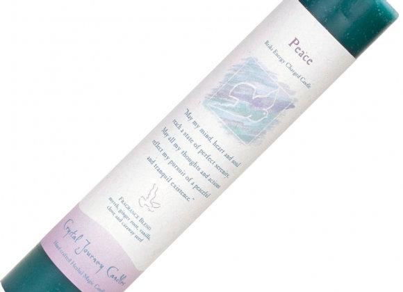 Reiki Herbal Pillar Candle - Peace