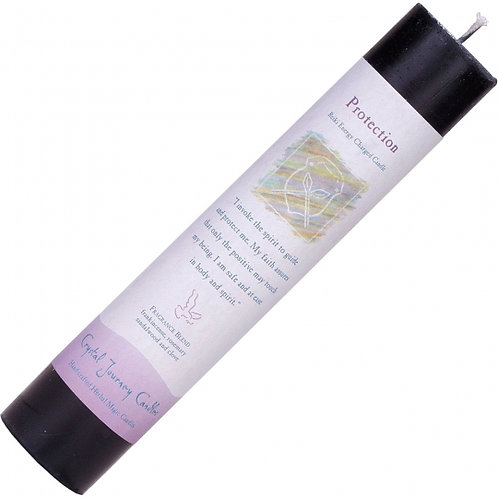 Reiki Herbal Pillar Candle - Protection