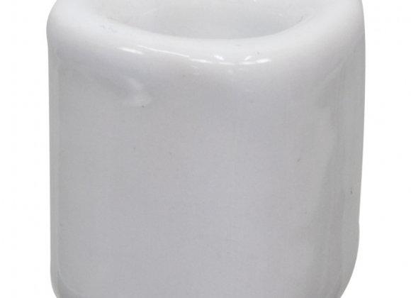 Mini Ritual Candle Holder - White