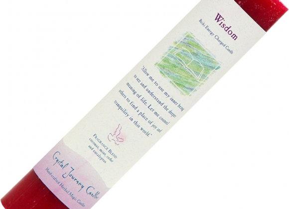 Reiki Herbal Pillar Candle - Wisdom