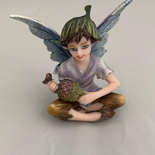 Acorn Fairy Figurine