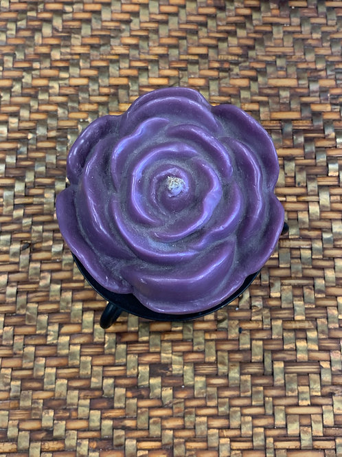 Beeswax Candle - Purple Rose