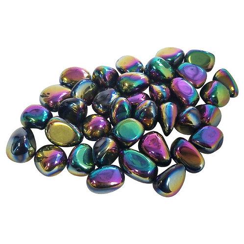 "Obsidian, ""Titanium Aura"" Black (Tumbled)"
