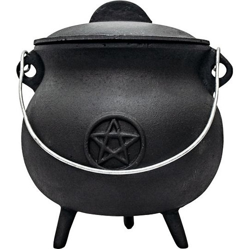 Cast Iron Cauldron - 8.5″H.X7.5″DI. Pentacle