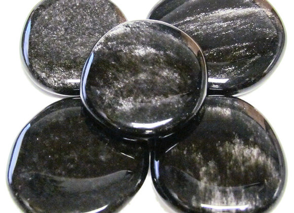 Earth Stone -Obsidian, Silver-Sheen