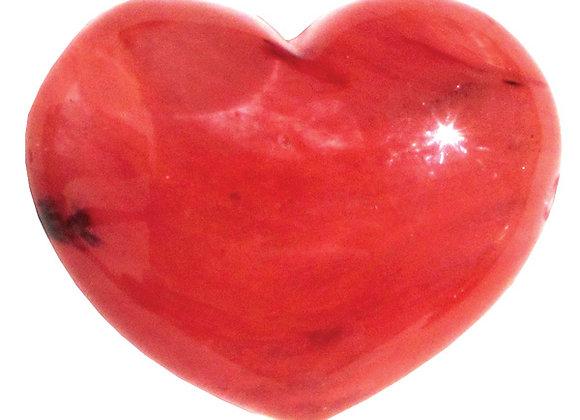 Puffy Heart - Quartz, Cherry