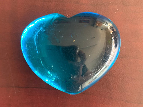 Puffy Heart - Obsidian, Electric Blue