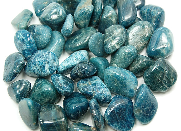 Apatite, Blue (Tumbled)