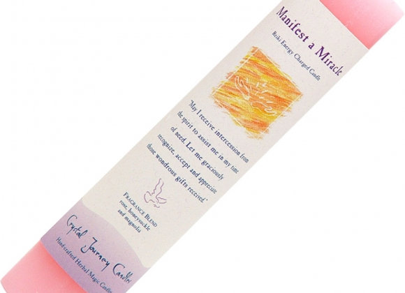 Reiki Herbal Pillar Candle - Manifest A Miracle