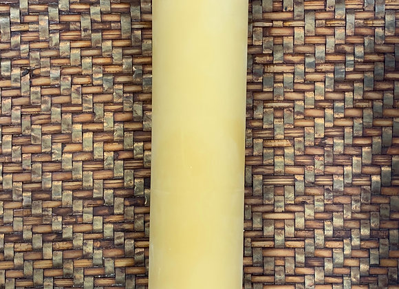 Beeswax Candle -Smooth Finish 2 x 9″