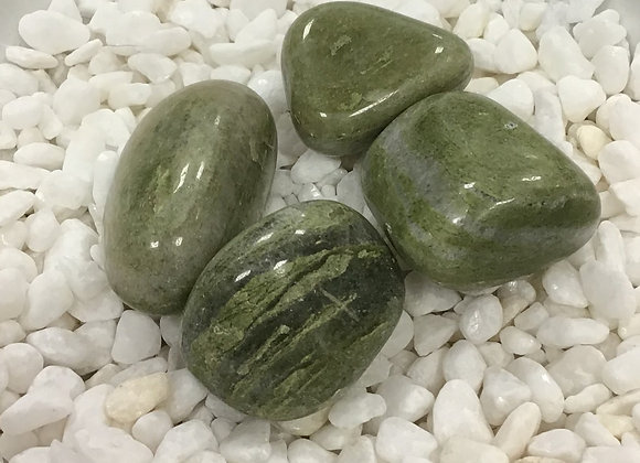 Agate, Green (Tumbled)
