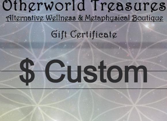 Custom Gift Certificate
