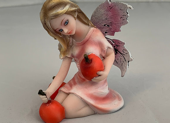 Cherry Fairy Figurine