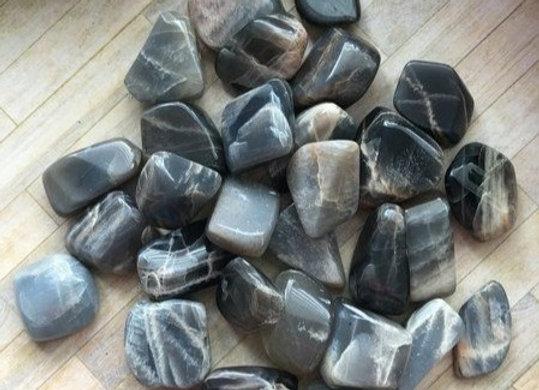 Moonstone, Black (Tumbled)
