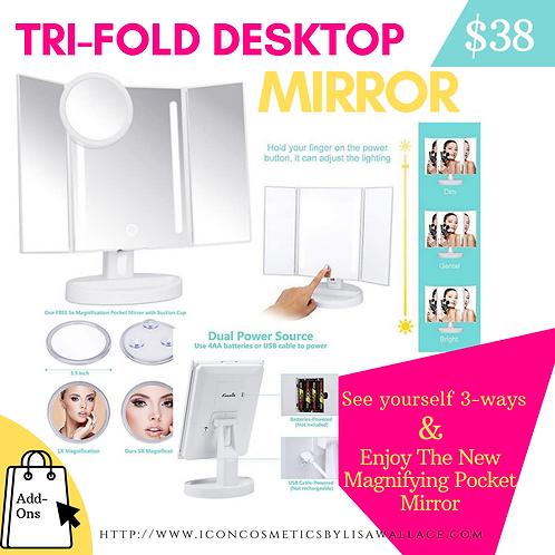Tri-fold Desktop Mirror