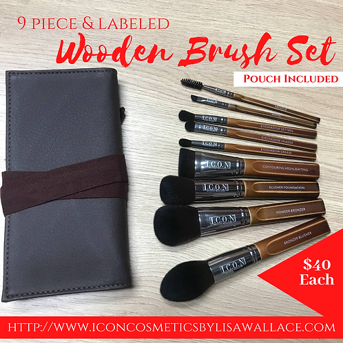 Wooden Brush Set with Added Concelar Brush