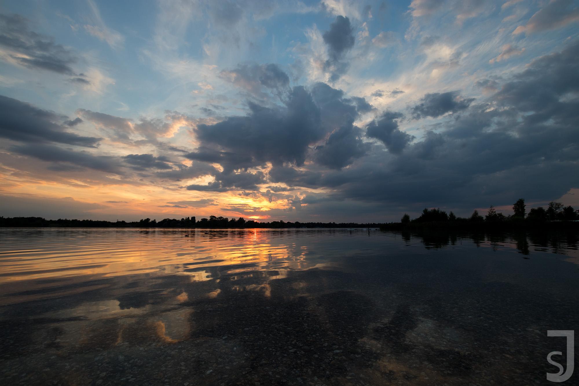 Sonnenuntergang Kulkwitzer See, Leipzig