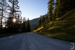Sonnenuntergang Oberst-Klinke-Hütte